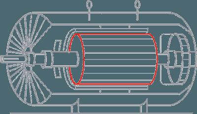 同步电动机转子铁芯短路检测