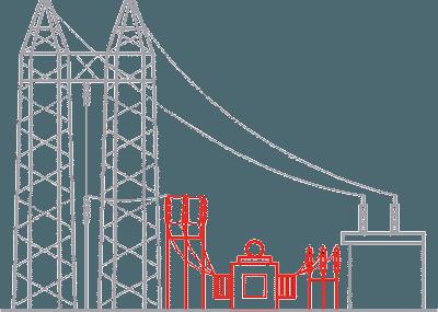 重负荷的电力通道上的不稳定风险